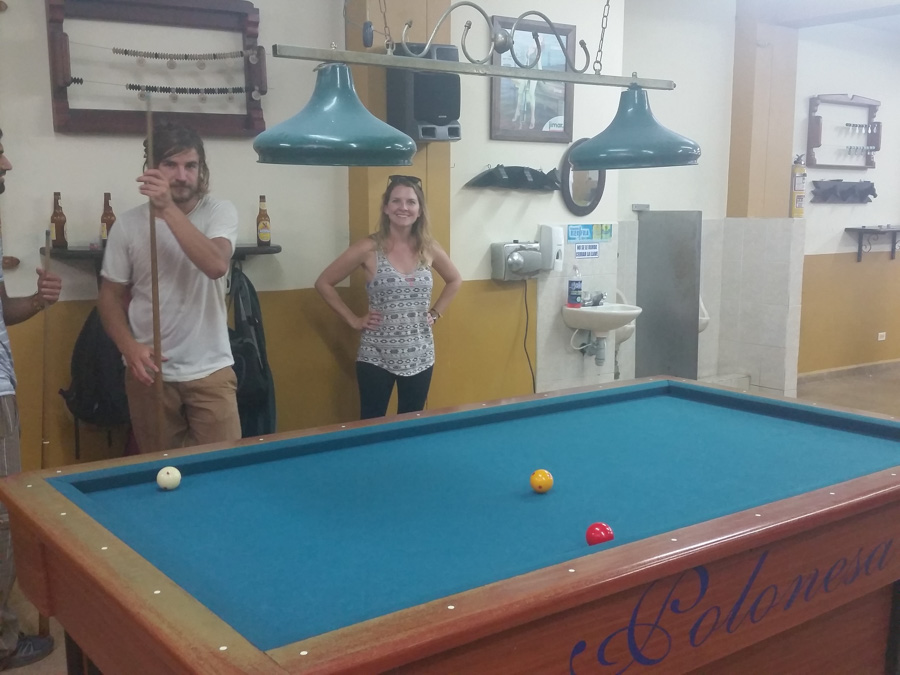 Guatape Colombia Pool Hall